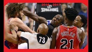 LAS PEORES PELEAS DE LA NBA 2016 A 2017 | ShowT7me