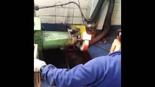 OPERAÇÃO CINTA DE LIXA R 980 # 24   material aço carbono