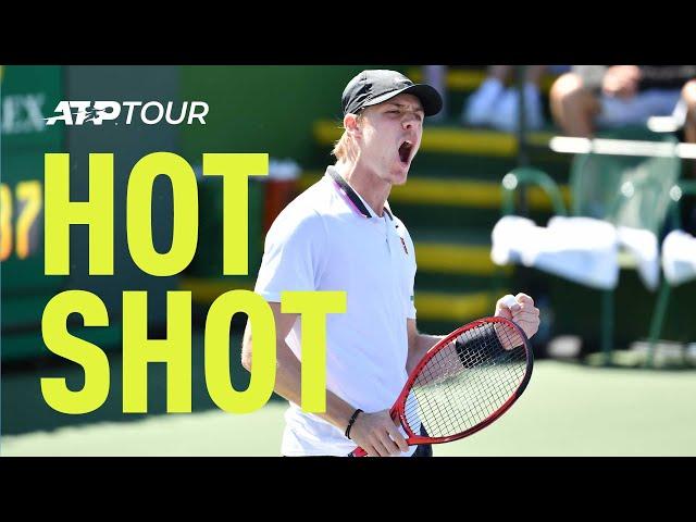 Hot Shot: Shapovalov Smashes Backhand Past Cilic Indian Wells 2019