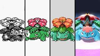 Evolution of Venusaur in Pokemon Games (1996-2019)