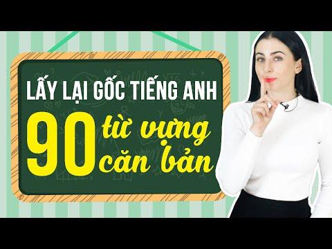 90 TỪ VỰNG TIẾNG ANH CƠ BẢN DÀNH CHO NGƯỜI MỚI BẮT ĐẦU - Học tiếng Anh Online (Trực tuyến)