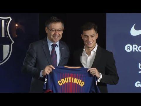 Directo: Presentación de Coutinho en el Camp Nou