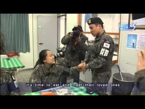 Basic Military Training for South Korean Girls Visiting Their Boyfriends in Army
