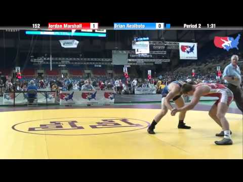 Fargo 2012 152 Round 3: Jordan Marshall (Ohio) vs. Brian Realbuto (New York)