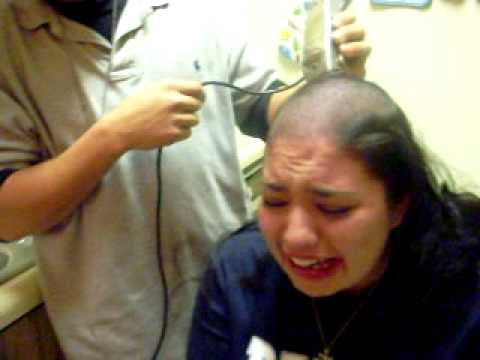 Image result for girl getting her hair shaved