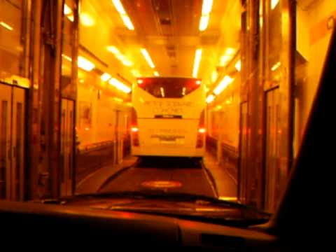 Driving In To The Euro Tunnel Train Youtube