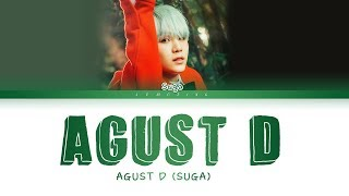 Скачать BTS Suga AGUST D Agust D Color Coded Lyrics Han Rom Eng 가사