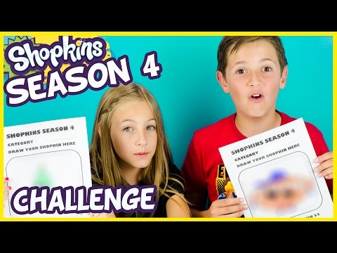SHOPKINS SEASON 4 DRAWING CHALLENGE! + Shopkins Season 3 Blind Baskets Opening. Idea by PLP TV