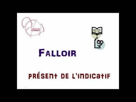 Falloir Present De L Indicatif Youtube