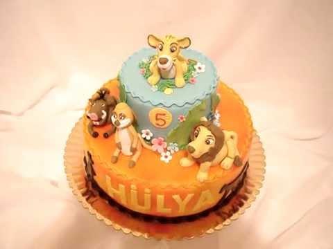 Lion king fondant cake youtube