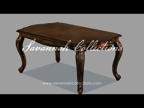 Victorian Furniture Dining Table by Savannah Collections Drexel - Heritage