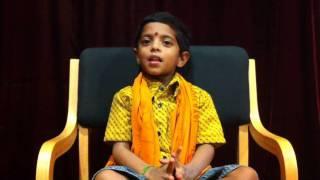 Sri Saatvik Datta Chants Telugu Hanuman Chalisa