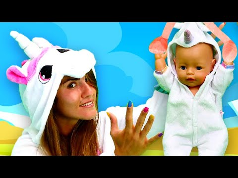 Видео с куклами - Беби Бон Единорожка! Акула Как Мама! – Весёлые игры для девочек