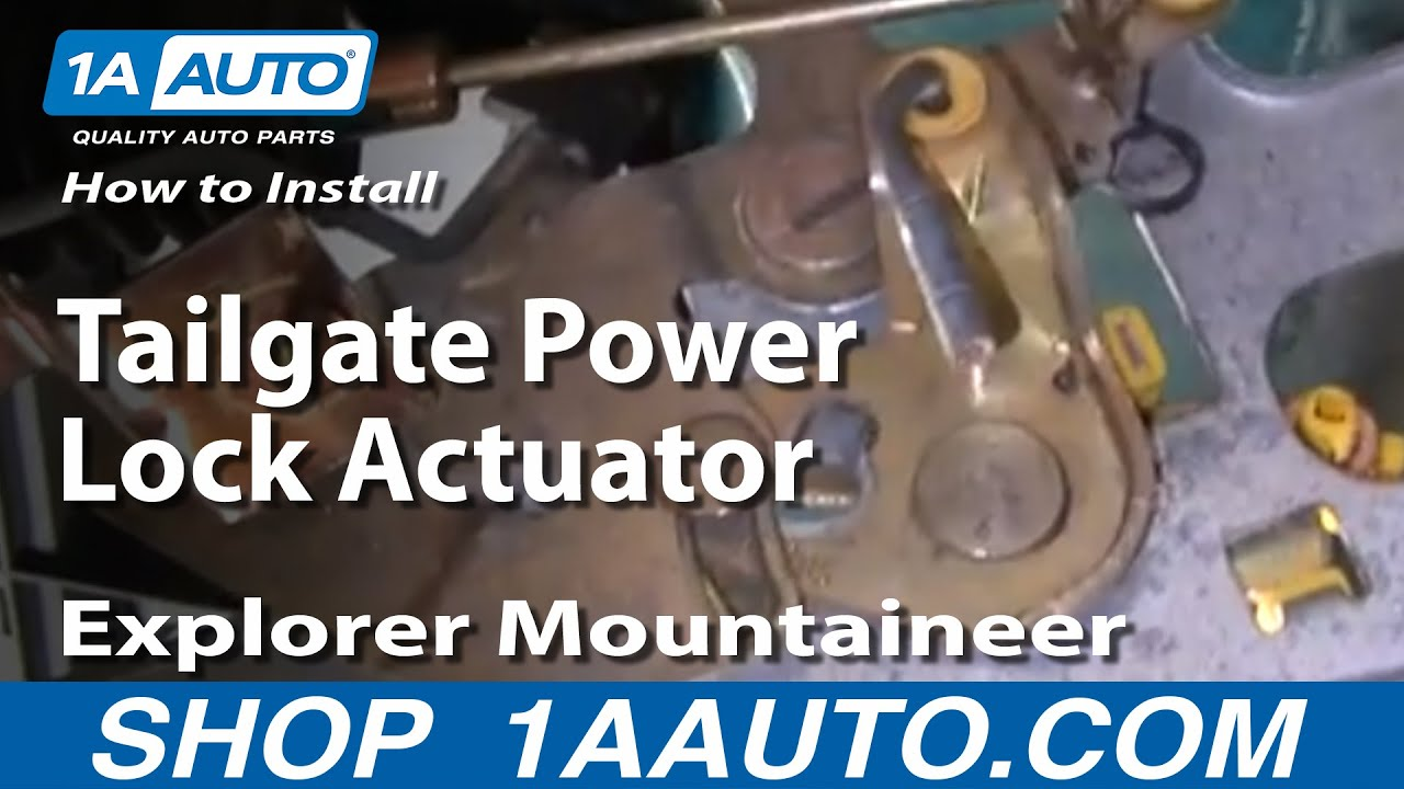 How To Install Replace Tailgate Power Lock Actuator Explorer 1995 Ford Windstar Windowsrelayjust The Driver Side That Mountaineer Expedition 97 03 1aautocom Youtube