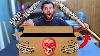 I Bought A Dark Web WEAPONS Mystery Box 2!! *SCARIEST BOX OF ALL TIME...*