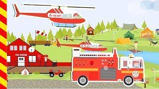 Пожарная машина мультфильм. Мультик про пожар. Мультик про пожарников. Машинки детям. Машинки игры.