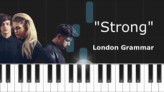 "London Grammar - ""Strong"" Piano Tutorial - Chords - How To Play - Cover"