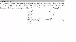 Do wykresu funkcji wykładniczej, określonej dla każdej liczby rzeczywistej x wzorem fx=ax gdzie a0 i