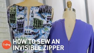 How to sew an invisible zipper step-by-step | Sewing Tutorial with Angela Wolf