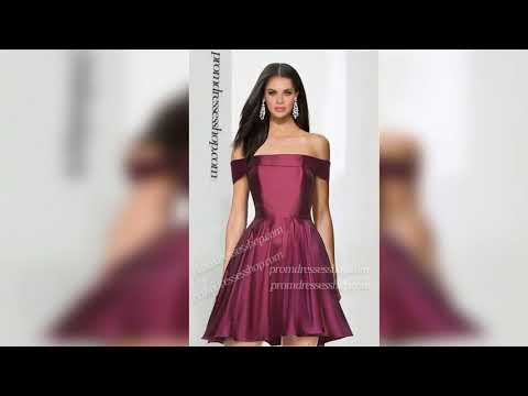 off-the-shoulder-strechy-satin-ruffle-regular-straps-cap-sleeve-zipper-up-short-dress