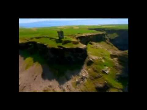 Flying over Ireland.Music by Hilton