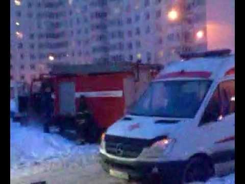 Марфино - пожар в квартире новостройки СВАО Москвы