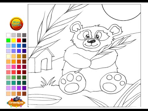 Panda Bear Coloring Pages For Kids Panda Bear Coloring Pages Youtube