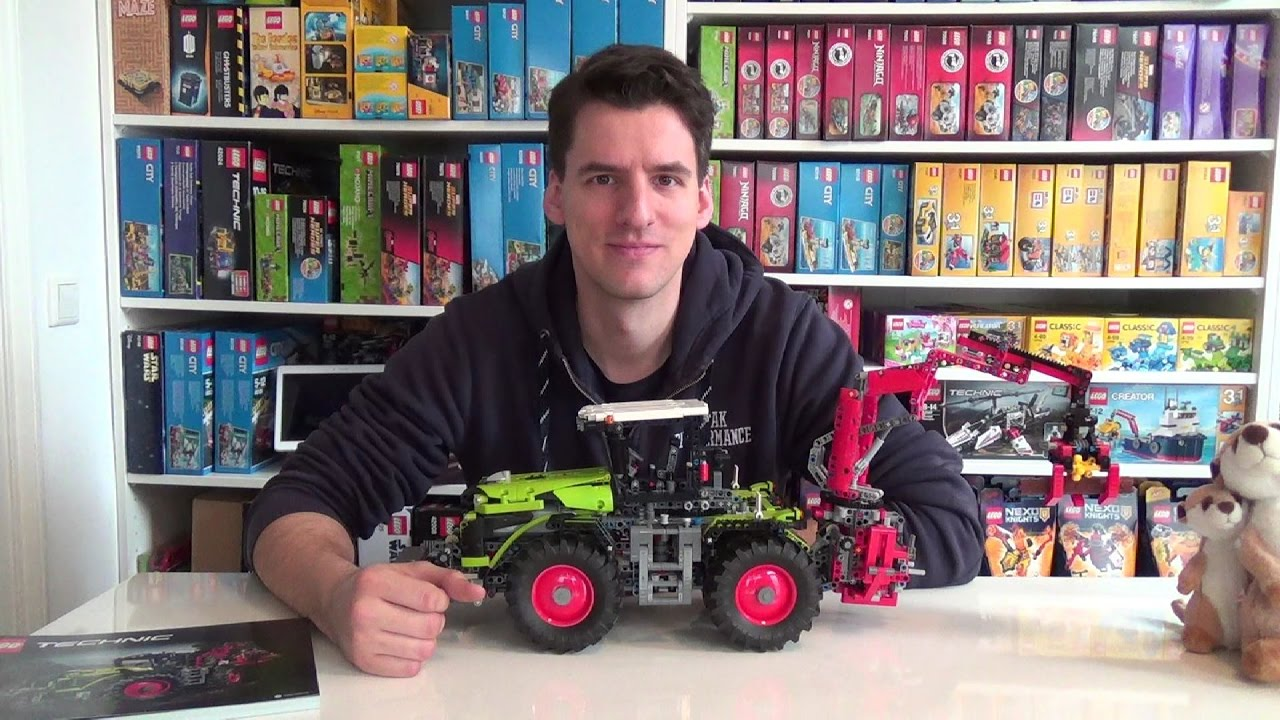 lego technic 42054 claas xerion 5000 trac vc youtube. Black Bedroom Furniture Sets. Home Design Ideas