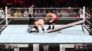 wwe 2k15 f5 through a table