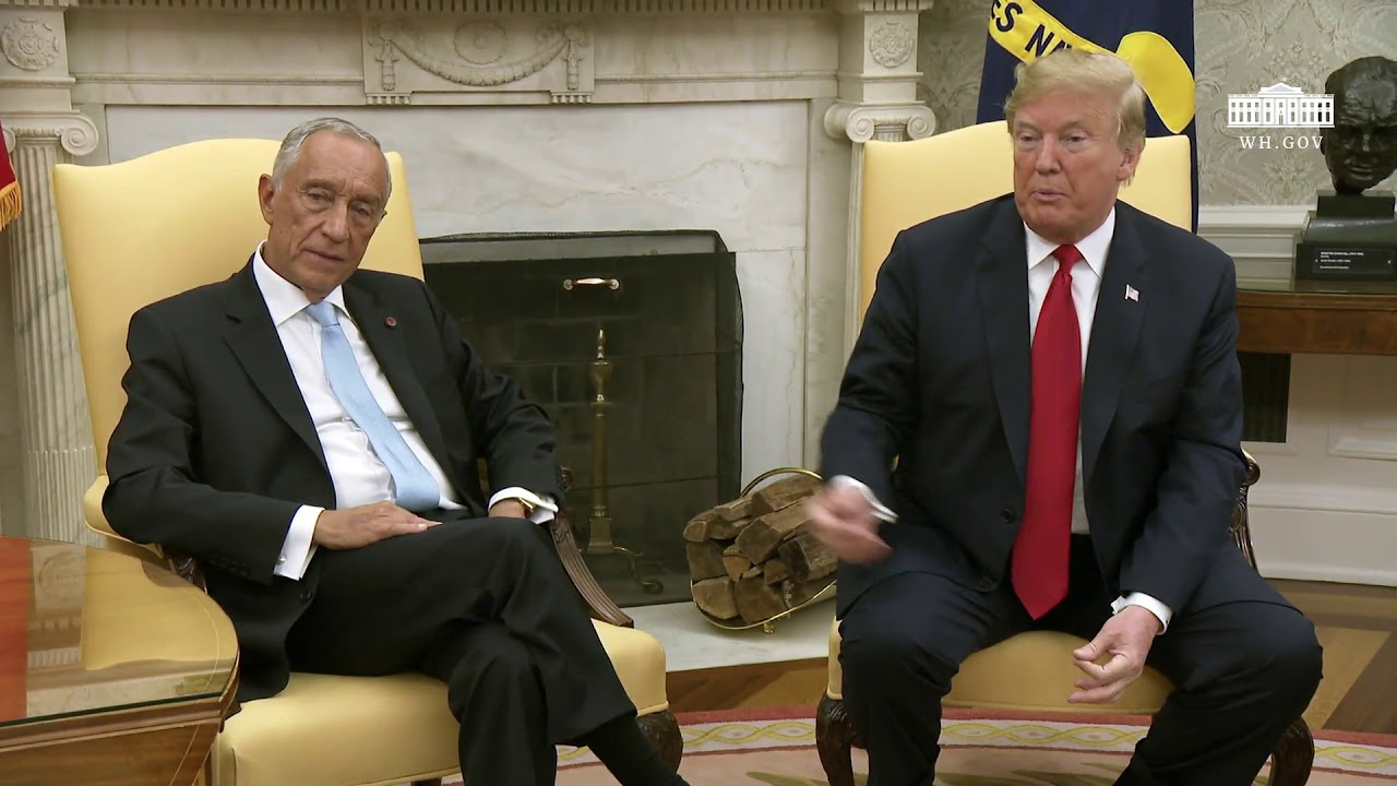 President Trump Meets with the President of the Portuguese Republic