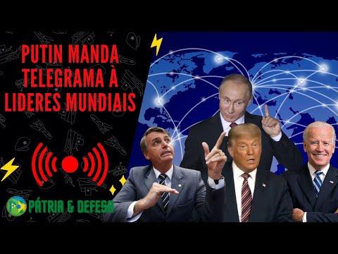 Putin Manda Um Salve Por Telegrama a Líderes Mundiais