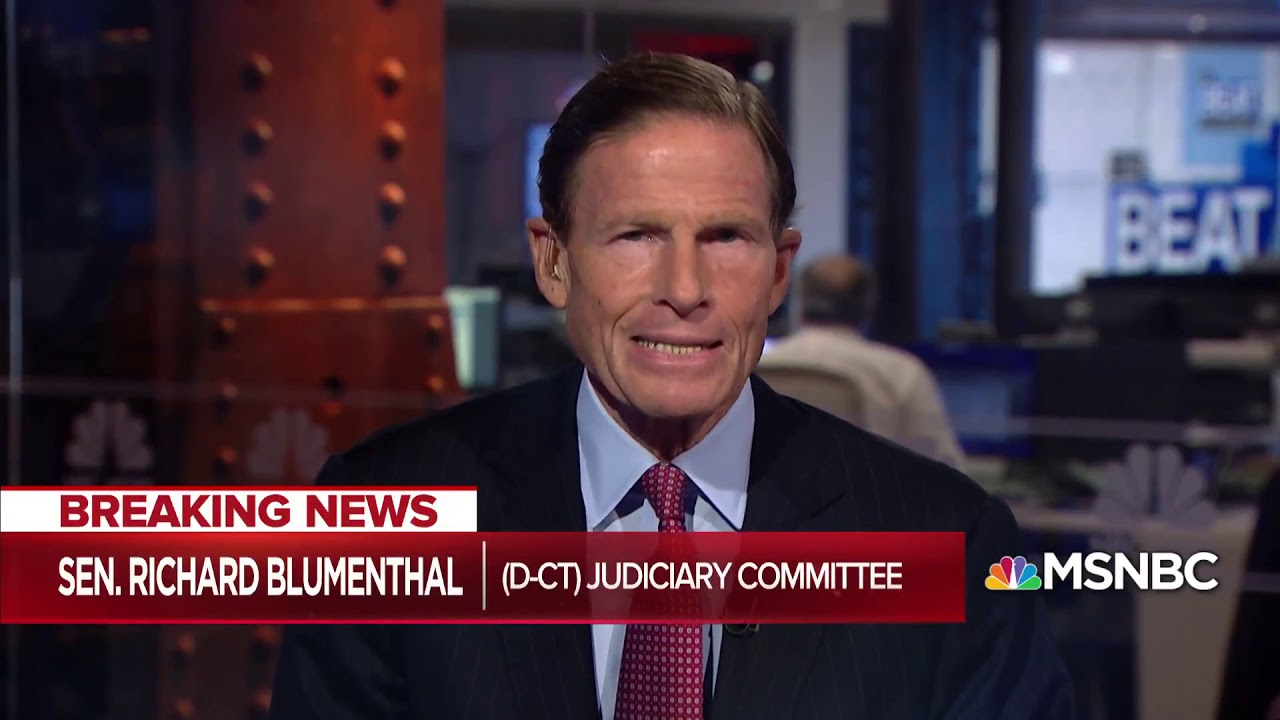 Sen  Blumenthal Manafort Guilty Plea Would Affirm Mueller Probe  The Beat With Ari Melber  MSNBC