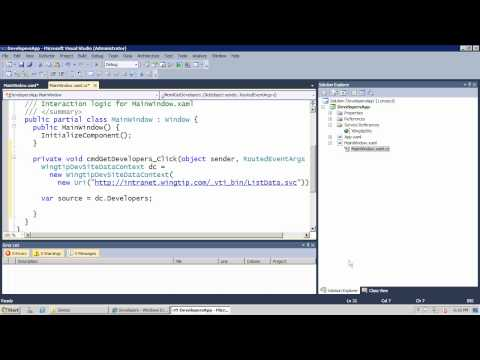 SharePoint: Accessing SharePoint 2010 Lists by Using WCF Data Services