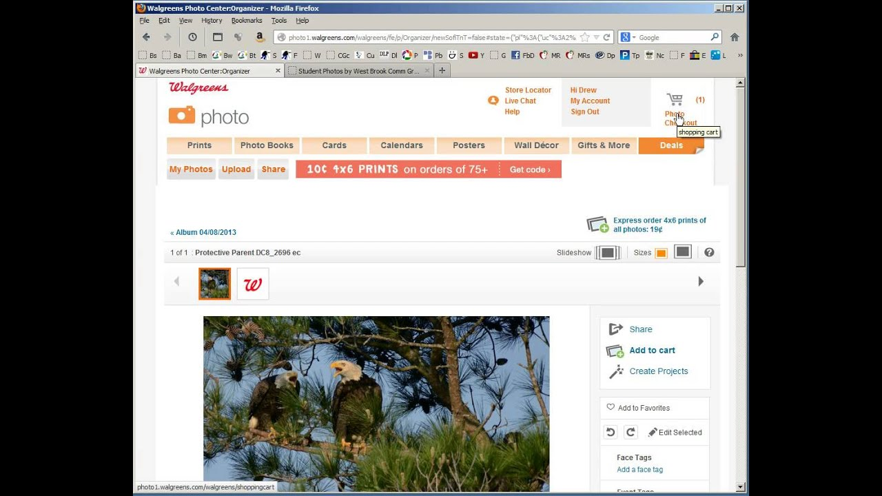 Walgreen's Photo Order - How to upload Full Resolution as well as cropping  to an 8x10