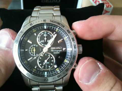 Seiko Chronograph Watch Snac07p1 Unboxing Youtube