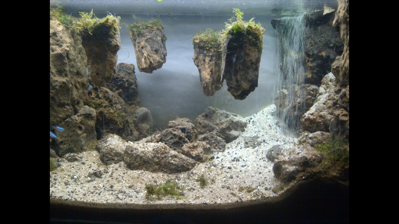Aquascape Waterfall Its Called Strenght Of A Thousand Stone Youtube