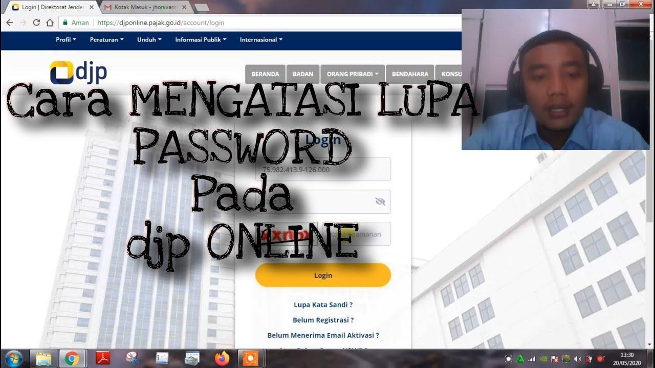 Cara mengatasi Lupa Password pada DJP Online || 2020 - YouTube