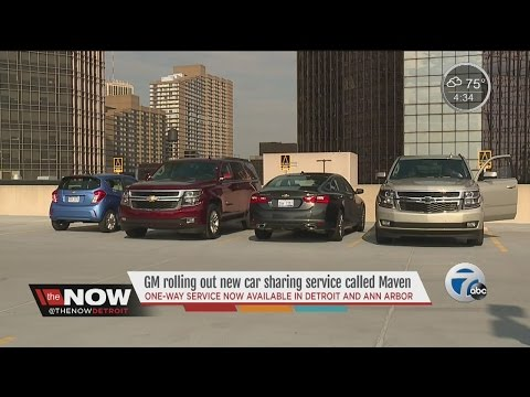 "General Motors launches car-sharing app ""Maven"""