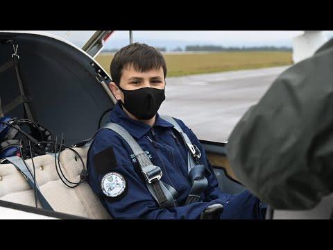 William, 14 ans, équipier escadrilles air jeunesse (EAJ)