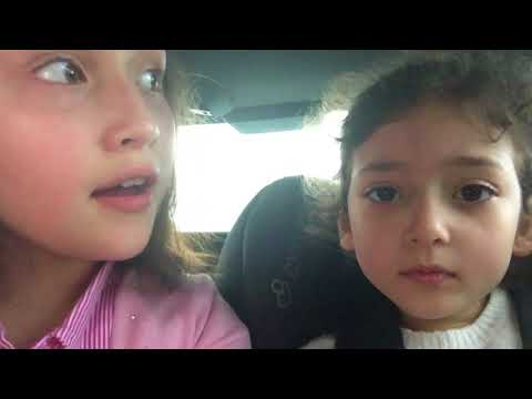 Chloe an Ella on the way to toys R us