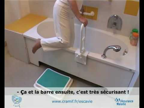 video marche pied barre appui baignoire youtube. Black Bedroom Furniture Sets. Home Design Ideas
