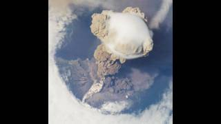 Sarychev Peak Eruption, Kuril Islands from space