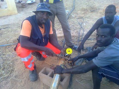 pompage energie senegal  centrale pompe solaire 3phasesAC linkiringfrontiere guinée Gamou Diop