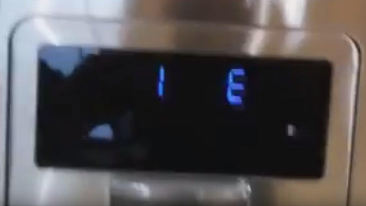Samsung Refrigerator 1E, SE, 5E, and flashing 8E and 26E error code reset - YouTube