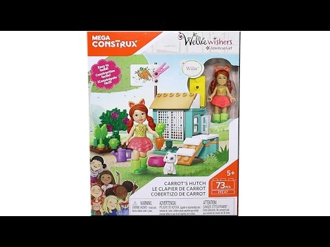 Mega Construx American Girl Wellie Wishers Carrot's Hutch Building Block Set Toy Review Speed Build
