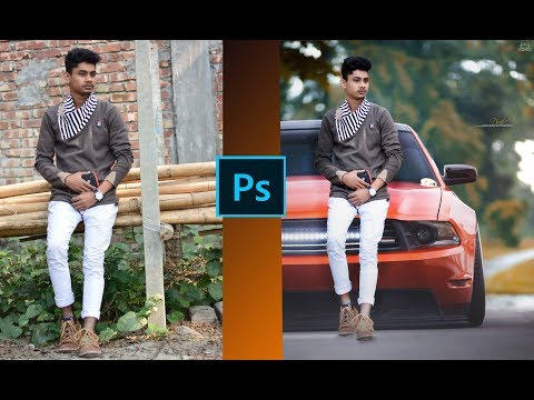 Boy And  Car Photo Manipulation  tutorial editing  in  photoshop cs6 2019..