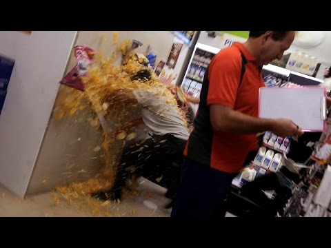 Supermarket Food Fight!!