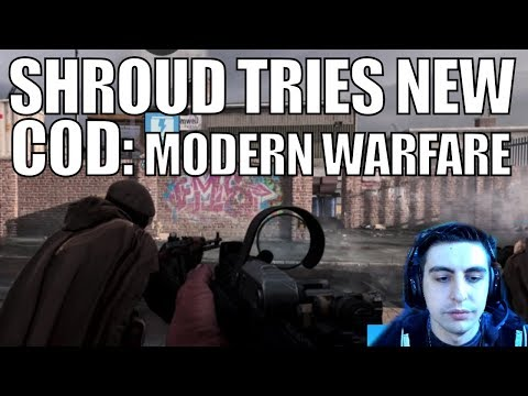 SHROUD ▪ Tries NEW COD:MW At Multiplayer Reveal Event【Call Of Duty Modern Warfare】