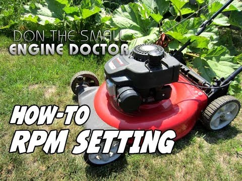 HOW-TO Adjust The RPM On A Lawnmower - Powermore engine