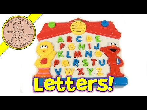 Sesame Street Big Bird And Elmo Learn The Alphabet Electronic Game Mattel, 1997 Tyco Toys